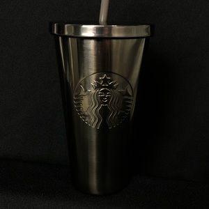 Starbucks tumbler silver stainless steel